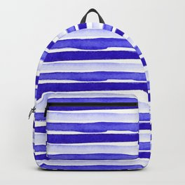 Ultra Violet Watercolour Stripes Backpack