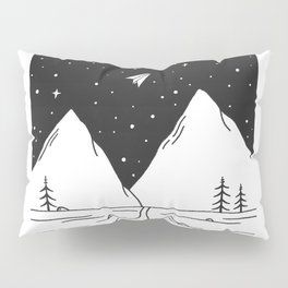 """Fly Away"" - Paper Plane Landscape Pillow Sham"