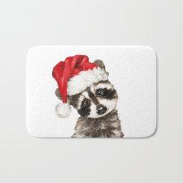 Christmas Baby Raccoon Bath Mat