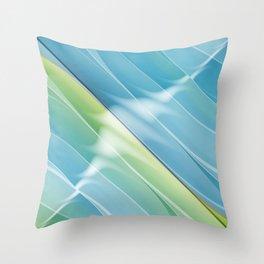 Pattern bluegreen 2 Throw Pillow