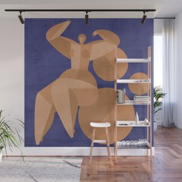 Abstract geometry lady Wall Mural