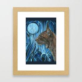 Dreams of a Lynx Framed Art Print