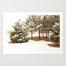 Sprinkled with Snow Art Print