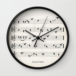 Black Birds Wall Clock