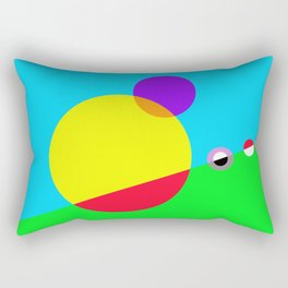Circles #1 Abstract Modern Painting by Bruce Gray Rectangular Pillow