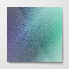 Gradient Web Metal Print