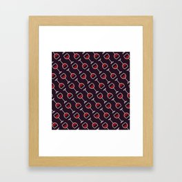 Wine Pattern - Icon Prints: Drinks Series Framed Art Print