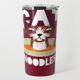 Cat Noodles Travel Mug