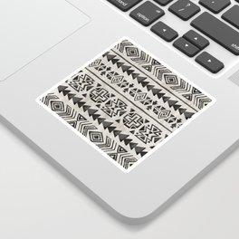 Boho Tribal Black & Cream, Geometric Print, Ink Tribal Decor Sticker