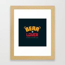 Bear Lover Framed Art Print