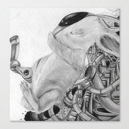 Cyborg Bunny Canvas Print