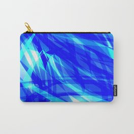 Vector glowing water background made of blue sea lines. Carry-All Pouch