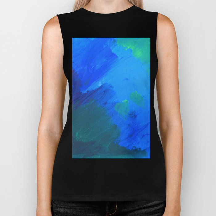 The woods are lovely, dark and deep  Biker Tank