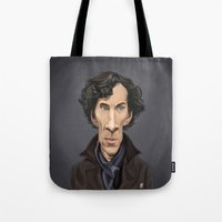 benedict Tote Bags featuring Celebrity Sunday ~ Benedict Cumberbatch by rob art | illustration