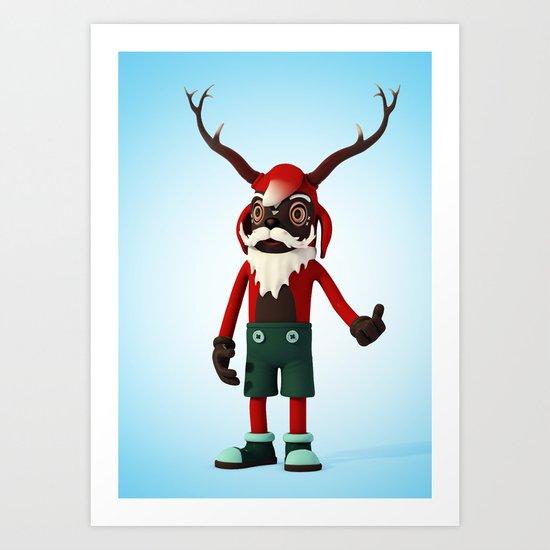Deer Opa Art Print