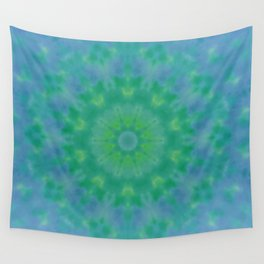 Pastel Geometric flower design Wall Tapestry