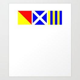 Nautical Flags | OMG Oh My God! Art Print