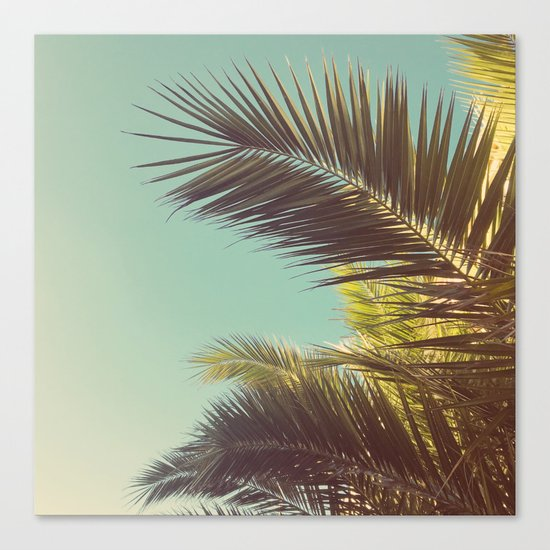 Autumn Palms Canvas Print
