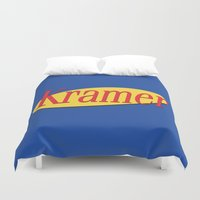 seinfeld Duvet Covers featuring Kramer  - Seinfeld by Uhm.