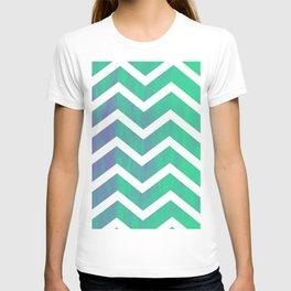 Patterned Chevron (Green) T-shirt