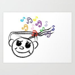 Music Swaggie [SWAG] Art Print
