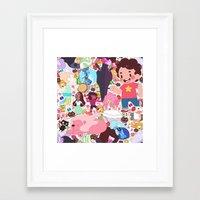 steven universe Framed Art Prints featuring Steven Universe by Velvetcat09