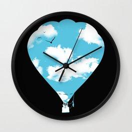 sky balloon Wall Clock