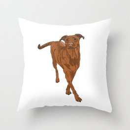 Dog Portrait 2 Throw Pillow