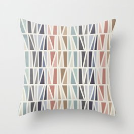 Slanted in Multicolor Throw Pillow