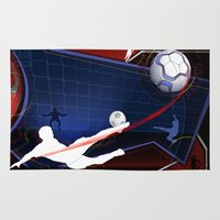 soccer Area & Throw Rugs featuring Soccer by Robin Curtiss