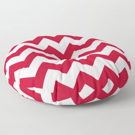 Chilli Pepper Red Chevron Pattern  Floor Pillow