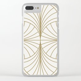 Diamond Series Inter Wave Gold on White Clear iPhone Case