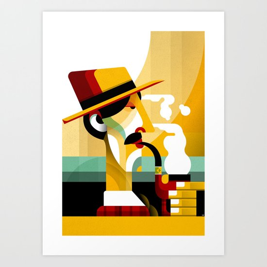 A man with a pipe Art Print
