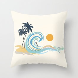 Minimalistic Summer II Throw Pillow