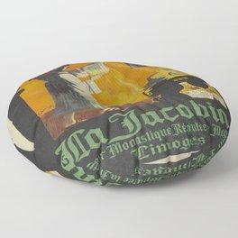 Vintage poster - La Jacobine Absinthe Floor Pillow