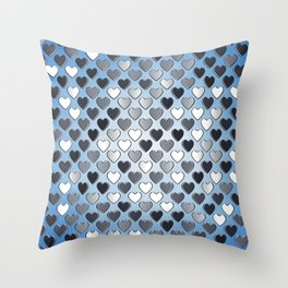 Valentine's day pattern Throw Pillow