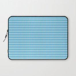 Oktoberfest Bavarian Blue and White Small Diagonal Diamond Pattern Laptop Sleeve