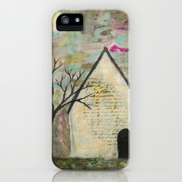 Little house of words iPhone Case
