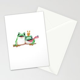Cartoon Frogs  Stationery Cards