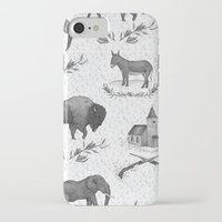 political iPhone & iPod Cases featuring Political Toile by Jessica Roux