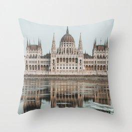 Budapest Parliament II Throw Pillow