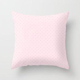 Light Soft Pastel Pink Mini Polka Dot Throw Pillow