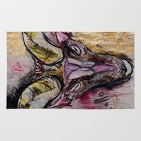 goat Area & Throw Rugs featuring Goat by Derek Boman
