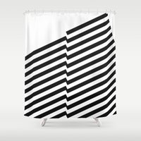 bands Shower Curtains featuring Blacknote Bands by blacknote