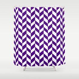 HERRINGBONE (INDIGO & WHITE) Shower Curtain