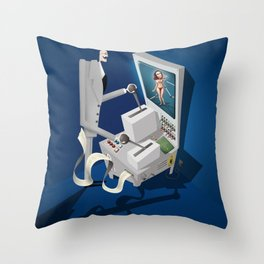 Engineering the Perfect Woman Throw Pillow