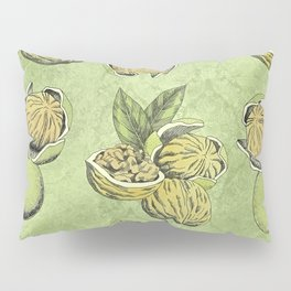 Walnuts Faded Lime Color Pillow Sham