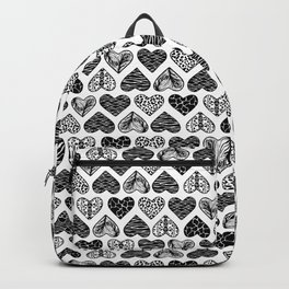 Wild Hearts in Black and White Backpack