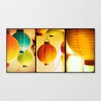 lanterns Canvas Prints featuring Lanterns by Jesse J. McClear
