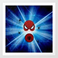 spider man Art Prints featuring Spider Man by haroulita